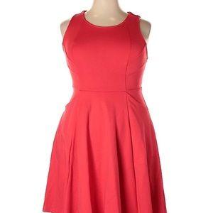 Torrid coral pink open back dress